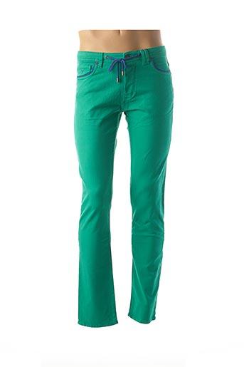 Pantalon casual vert CARNET DE VOL pour homme