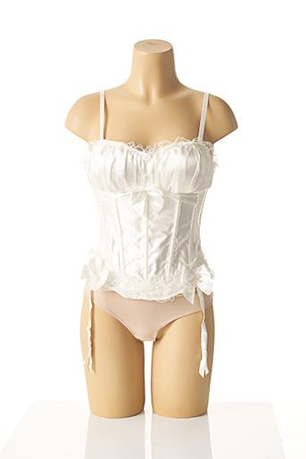 Guêpière/Porte-jarretelle blanc FINEBELLE pour femme