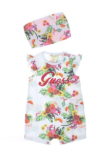 Combishort rose GUESS pour fille