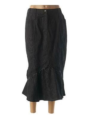 Jupe mi-longue noir BE THE QUEEN pour femme