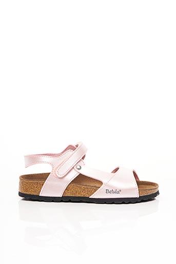 Sandales/Nu pieds rose BETULA pour fille