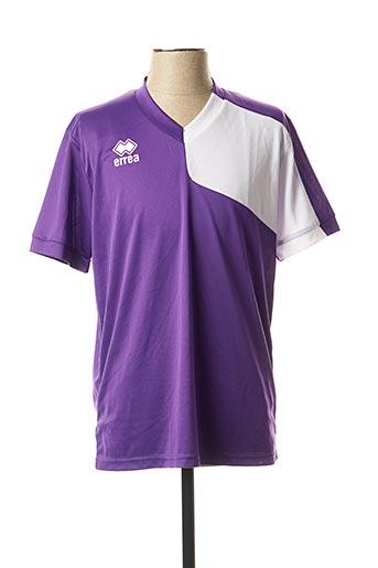 T-shirt manches courtes violet ERREA pour homme