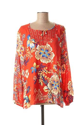 Blouse manches longues rouge WEINBERG pour femme