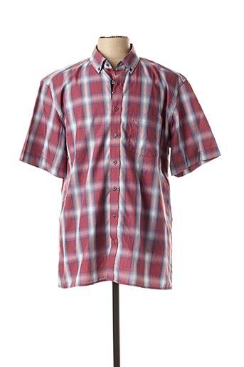 Chemise manches courtes rouge ETERNA pour homme