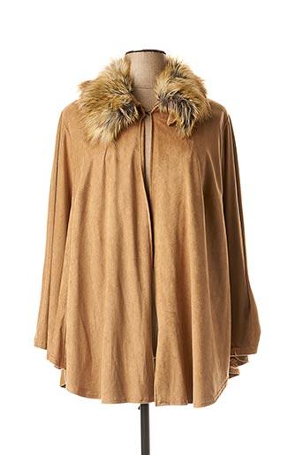 Manteau long beige SEMPRE PIU BY CHALOU pour femme