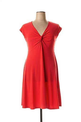 Robe mi-longue rouge WEINBERG pour femme