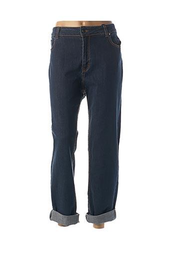 Jeans coupe droite bleu FRED SABATIER pour femme
