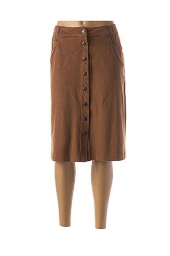 Jupe mi-longue marron WEINBERG pour femme
