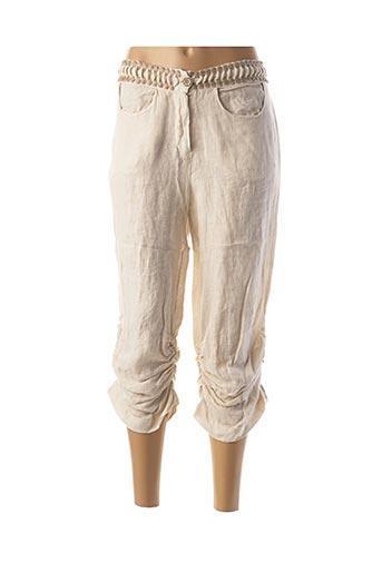 Pantalon 7/8 beige FRED SABATIER pour femme