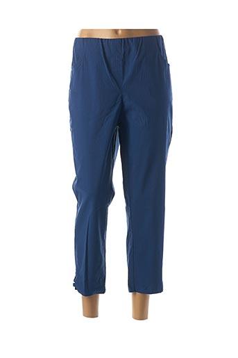 Pantalon 7/8 bleu ADELINA BY SCHEITER pour femme