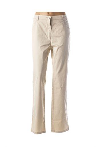 Pantalon casual beige TONI pour femme