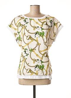 T-shirt manches courtes blanc LIU JO pour femme