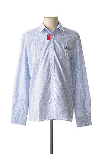 Chemise manches longues bleu OXBOW pour homme