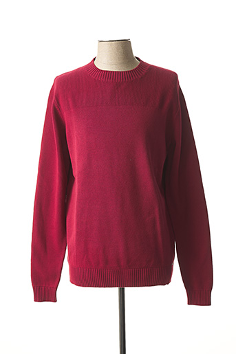 Pull col rond rouge DSTREZZED pour homme