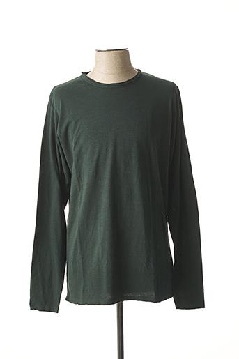 T-shirt manches longues vert DSTREZZED pour homme