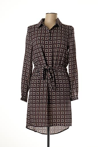 Robe mi-longue marron DEELUXE pour femme