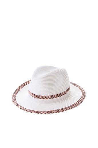 Chapeau blanc CRAMBES pour femme