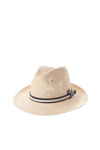 Chapeau beige HERMAN pour homme