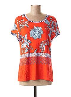 T-shirt manches courtes rouge FUEGO WOMAN pour femme