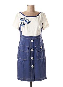 Robe courte bleu POUPEE CHIC pour femme