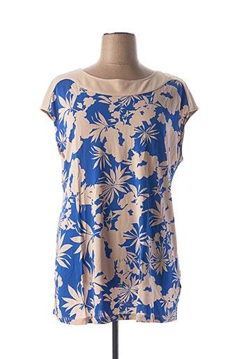 T-shirt manches courtes bleu ELENA MIRO pour femme