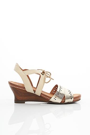 Sandales/Nu pieds beige KARSTON pour femme
