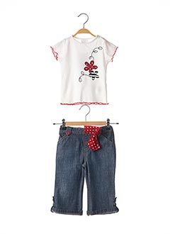 Top/pantalon blanc GIRANDOLA pour fille