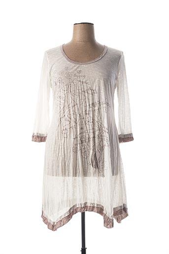 Robe mi-longue blanc VIE NOCTURNE pour femme