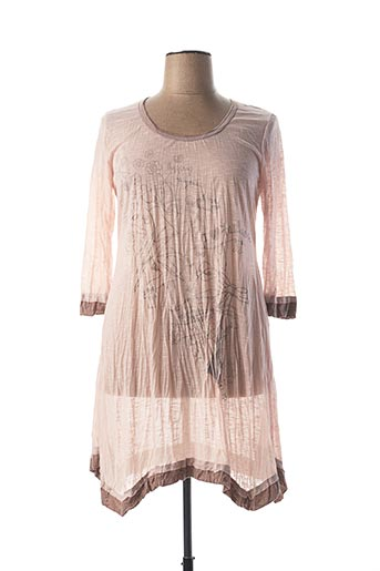 Robe mi-longue rose VIE NOCTURNE pour femme
