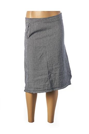 Jupe mi-longue bleu OTTOD'AME pour femme
