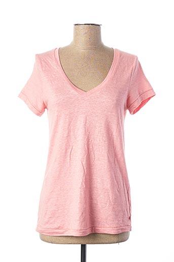 T-shirt manches courtes rose OTTOD'AME pour femme