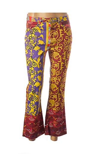 Pantalon 7/8 marron MANILA GRACE pour femme