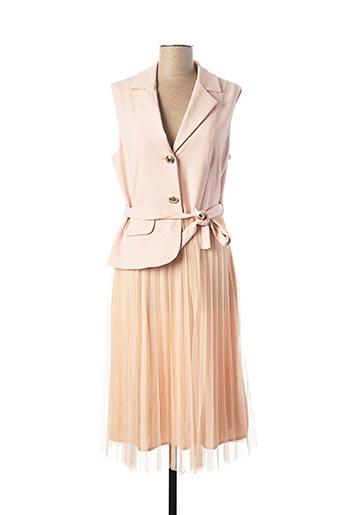 Robe mi-longue rose RINASCIMENTO pour femme