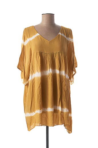 Tunique manches longues jaune LACONY pour femme