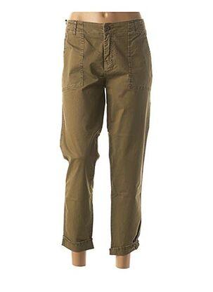 Pantalon casual vert FIVE pour femme