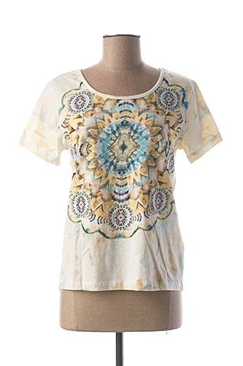 T-shirt manches courtes beige CREAM pour femme