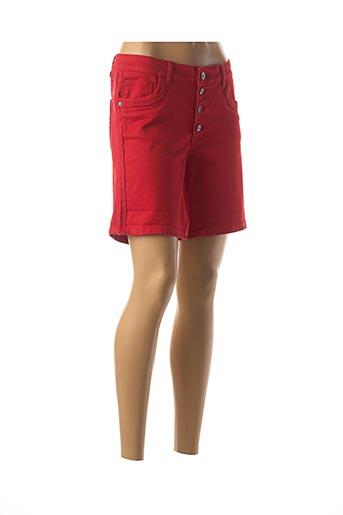 Bermuda rouge GEISHA pour femme