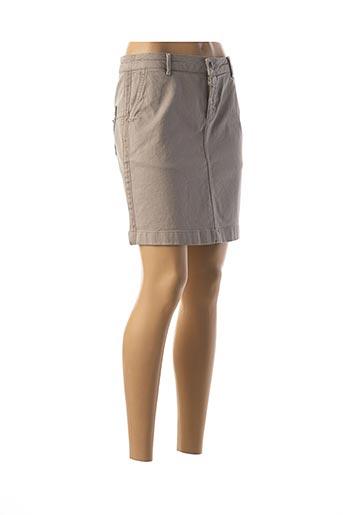 Jupe courte beige GEISHA pour femme