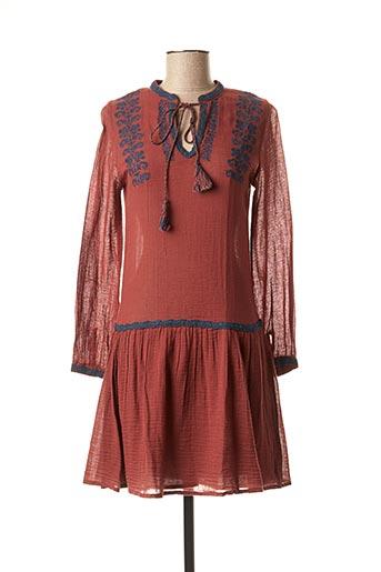 Robe mi-longue rouge FREE MINDS.. pour femme