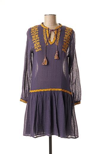 Robe mi-longue violet FREE MINDS.. pour femme