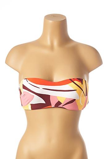 Haut de maillot de bain orange SEAFOLLY pour femme