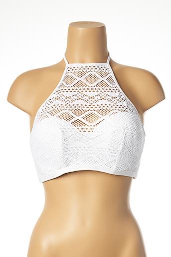 Haut de maillot de bain blanc FREYA pour femme