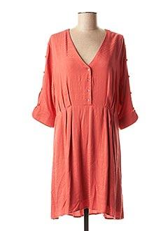 Robe mi-longue orange LOLA ESPELETA pour femme