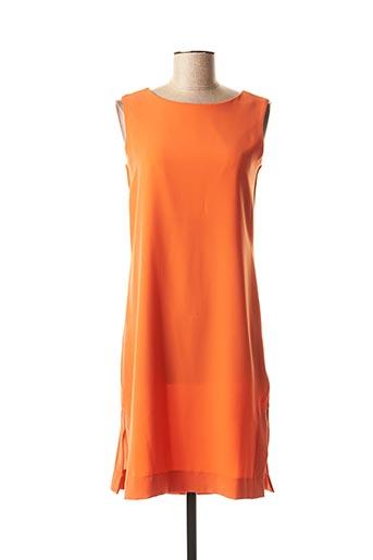Robe mi-longue orange LA FEE MARABOUTEE pour femme