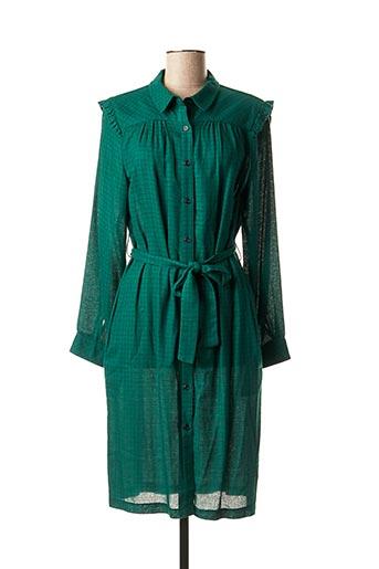 Robe mi-longue vert LA PETITE FRANCAISE pour femme