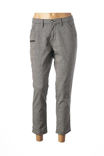 Pantalon 7/8 gris DESGASTE pour femme