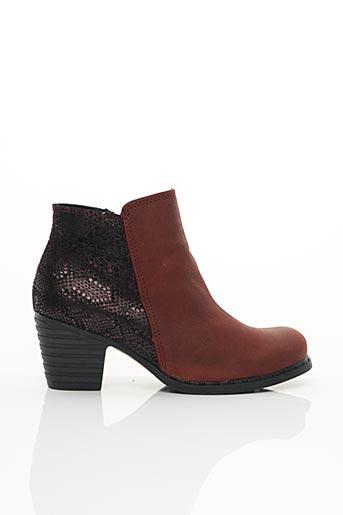 Bottines/Boots rouge AICE pour femme