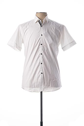 Chemise manches courtes blanc KARL LAGERFELD pour homme