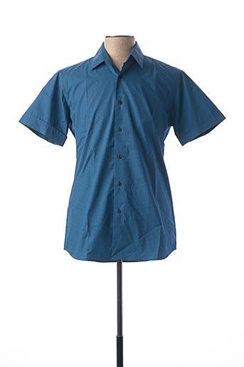 Chemise manches courtes bleu KARL LAGERFELD pour homme