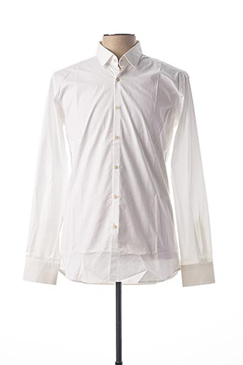 Chemise manches longues blanc KARL LAGERFELD pour homme